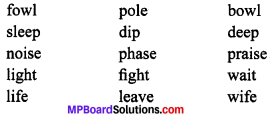 MP Board Class 9th General English The Spring Blossom Solutions Chapter 1 O Light! 1