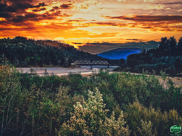 DYERVILLE BRIDGE SUNSET-PANO-10-30-2019-4032wx3024h-300ppi- © Cody Jacobson-ZEN MOUNTAIN MEDIA all rights reserved