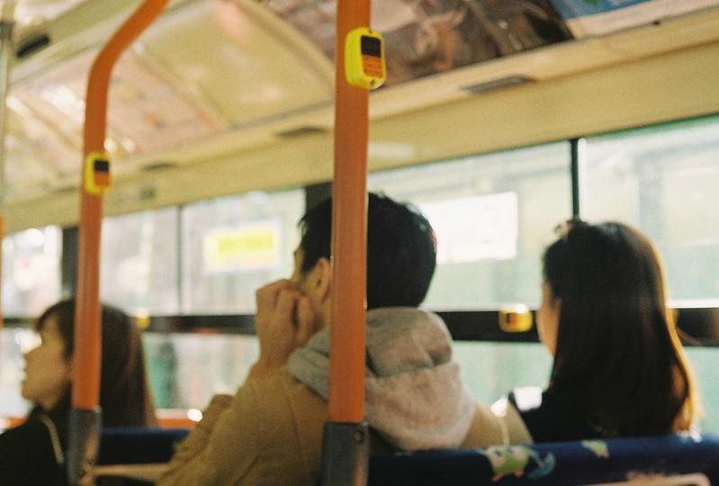 007Leitz Ⅲf+Summicron 50mm f2 0+Kodak Color Plus200浅草詣で浅草雷門行バス内
