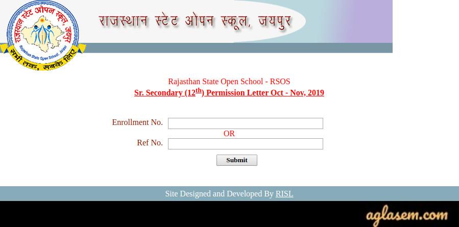 RSOS Admit Card 2019
