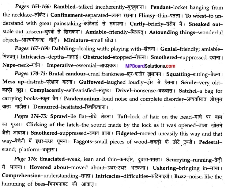 MP Board Class 12th English A Voyage Solutions Chapter 20 Swami and Friends (R.K. Narayan) 2