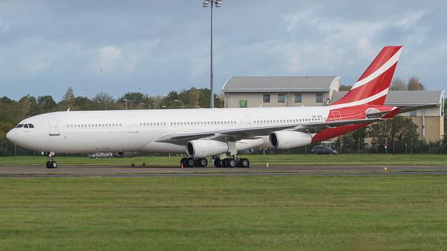 3B-NAU - Air Mauritius a340  @ Cardiff Airport 02/11/19