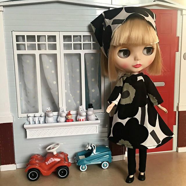 My Blythe got a new cute Marimekko dress ❤️