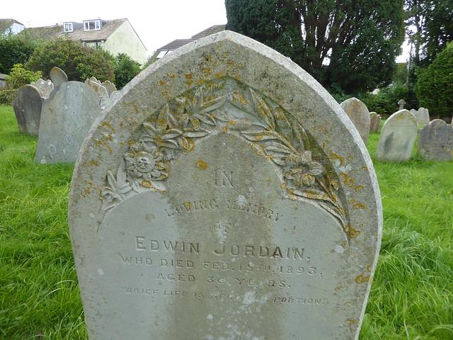 Gravestone in Bridgetown Cemetery