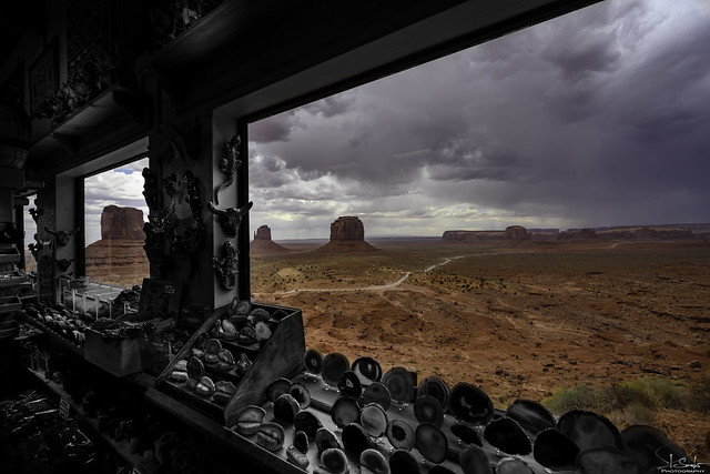 Window view of Monument Valley - Arizona - USA