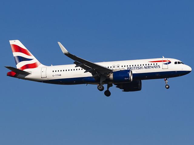British Airways | Airbus A320-251N | G-TTNB