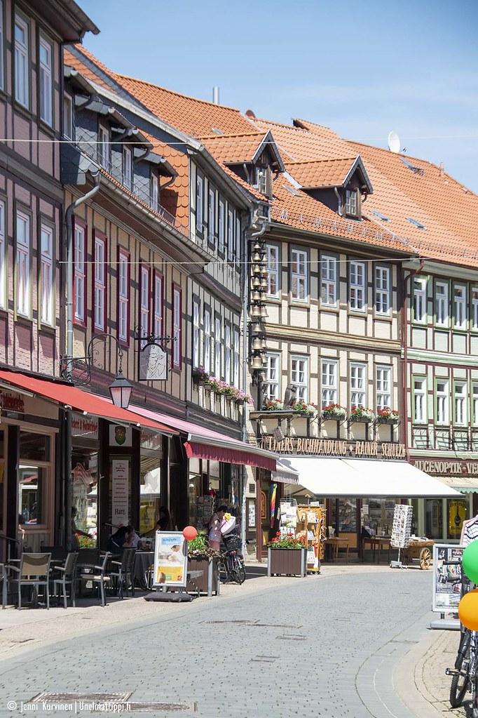 Ristikkotaloja Wernigerodessa