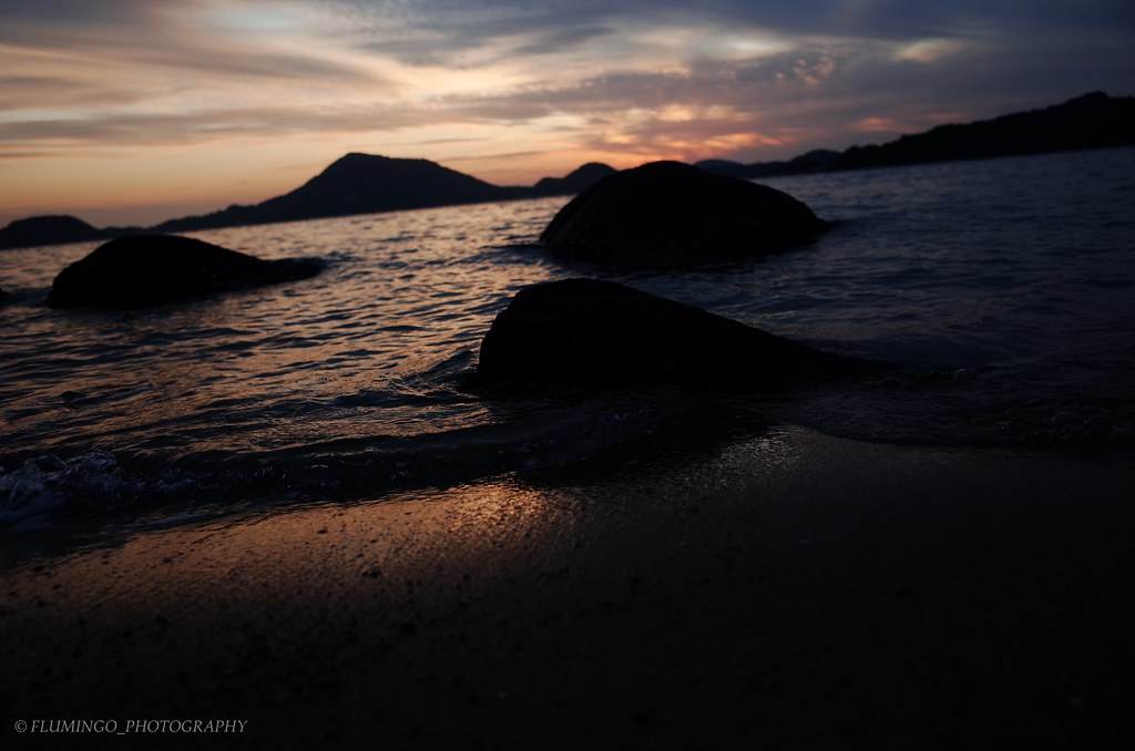 秋の夕暮れ 高浜散歩