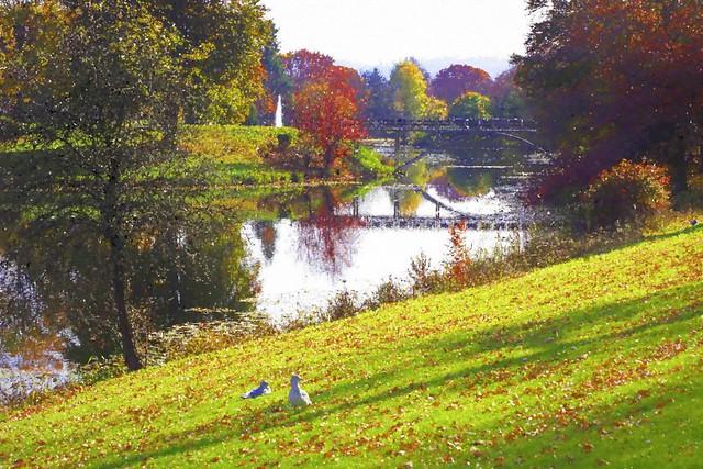 Monet Does Lake Sacagawea