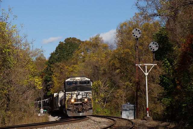 NS Norfolk Southern 15T ES44AC #8134 Southbound Kinsey, VA 10-27-19