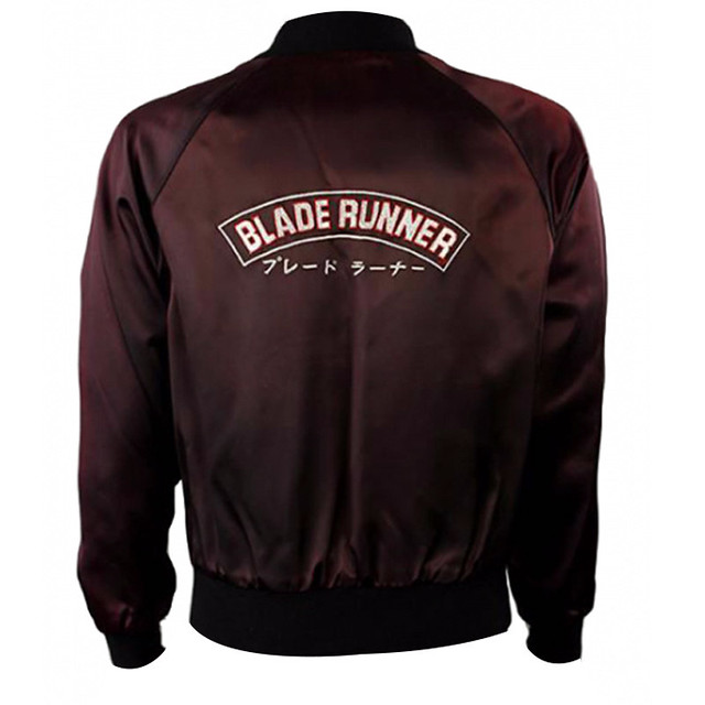 Blade Runner is one of the best classic sci-fi movies. The movie features a maroon satin jacket worn by Harrison Ford that has been a symbol of style and elegance. The Blade Runner Crew jacket is an outstanding satin bomber style outfit that is just perfe