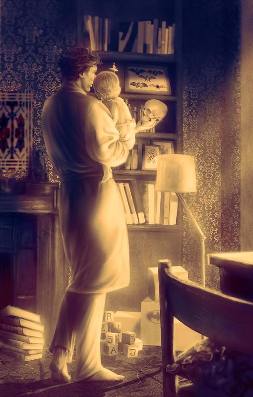 Procoffeinating Sherlock and Rosie ver1