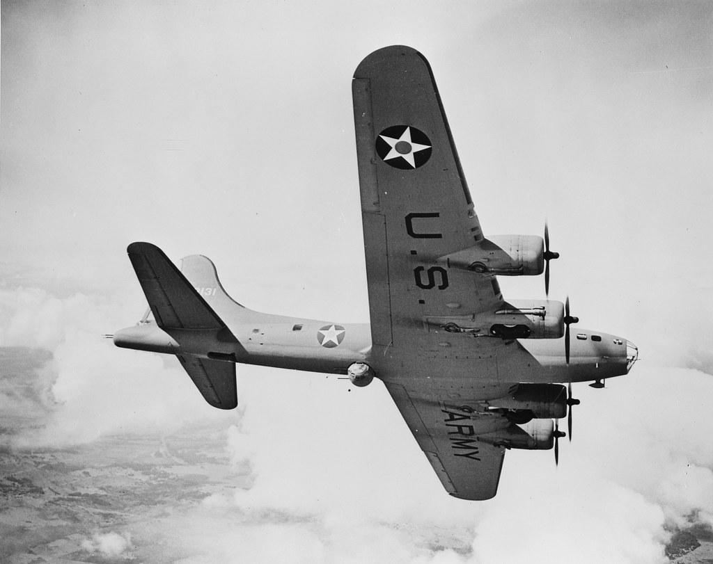 US Army Boeing B-17  US Army Boeing B-17 Flying Fortress Location unknown.