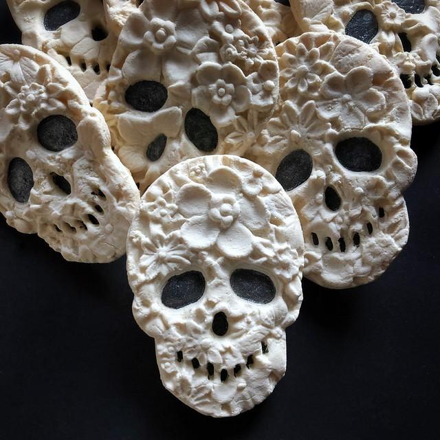 Flower Skull Cookies