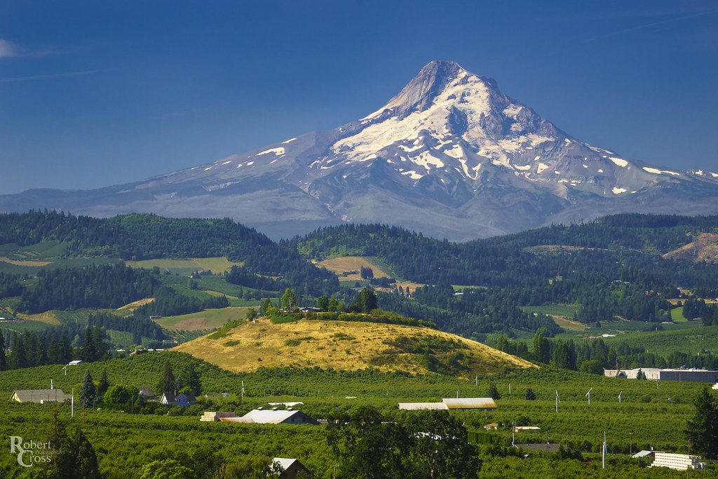 August in the Hood River Valley