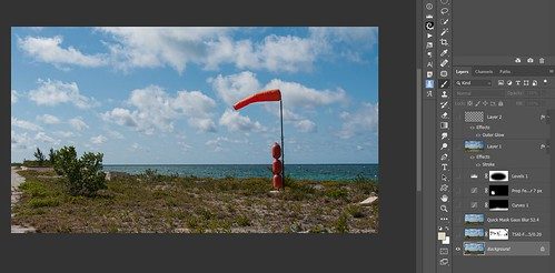 Screenshot of the RAW file for Spanish Cay in the Bahamas