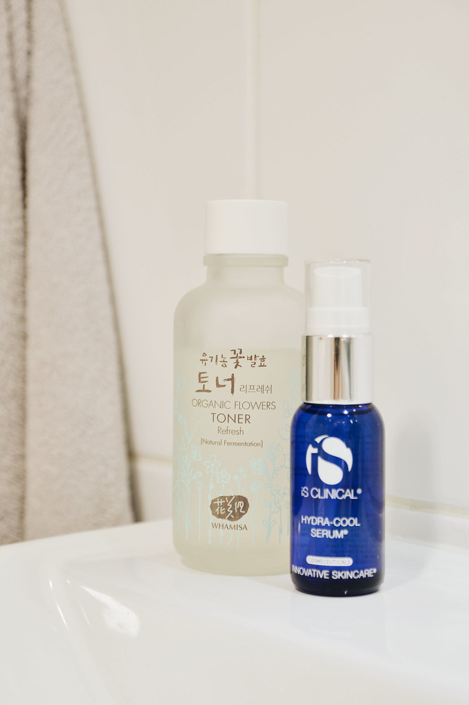 Whamisa Refreshing Toner and IS Clinical Hydra-Cool serum