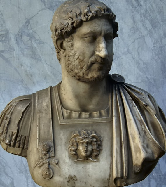 Hadrian portrait bust, c120 CE - Chiaramonti Museum, Musei Vaticani, Vatican City, Rome.