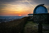 Sonnenuntergang an der Sternwarte Radebeul (Sachsen)