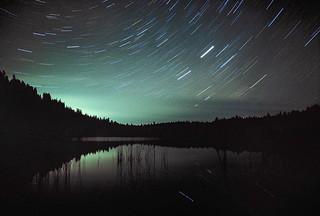 Blue Lake Star Trails on Kodak Ektachrome Film