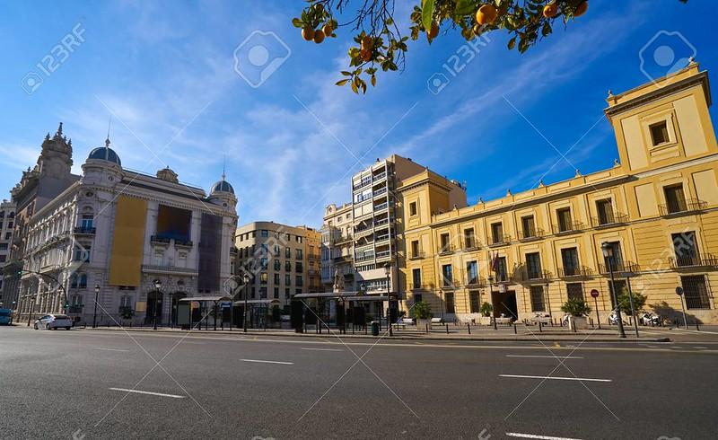 Valencia Tetuan square buildings facades