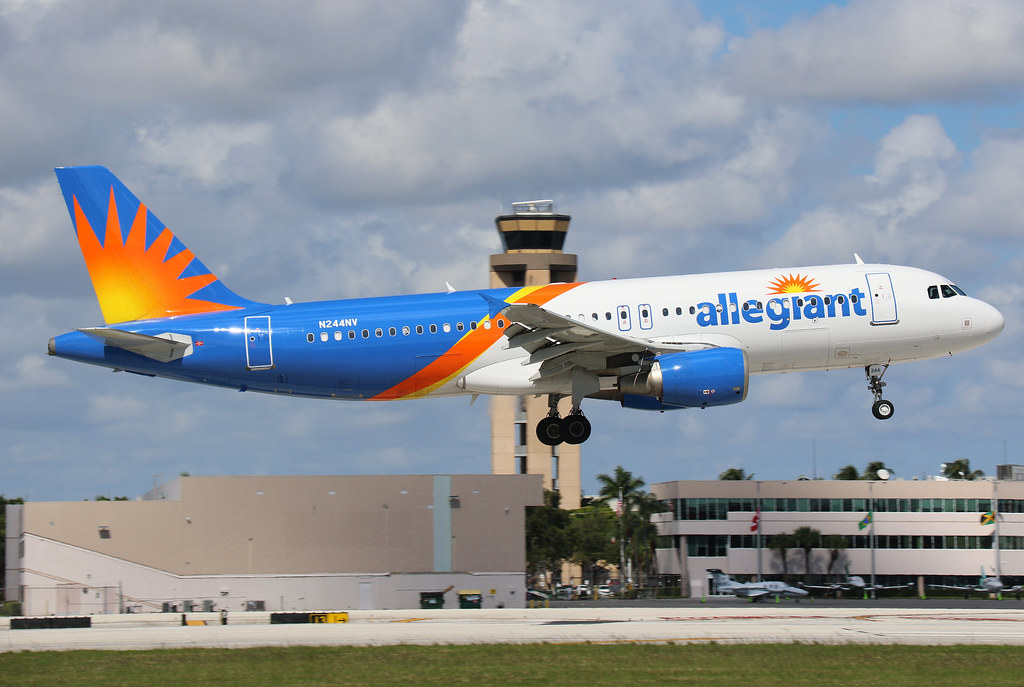 N244NV Allegiant Air Airbus A320-214  at Fort Lauderdale Hollywood International Airport Florida U.S.A (FLL/KFLL)