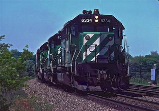 BN SD40-2 6334 Naperville, IL
