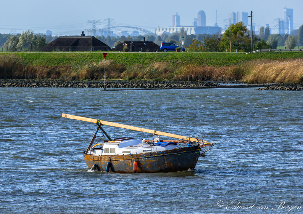 A drifting boat ! Or is it . . ?