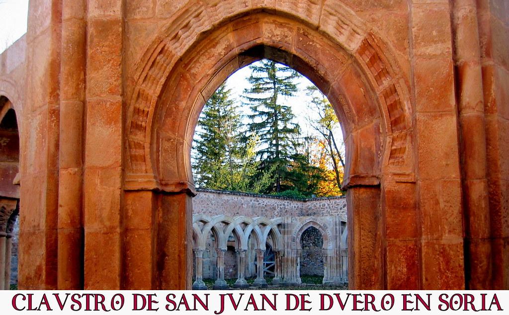 Claustro de san Juan de Duero en Soria