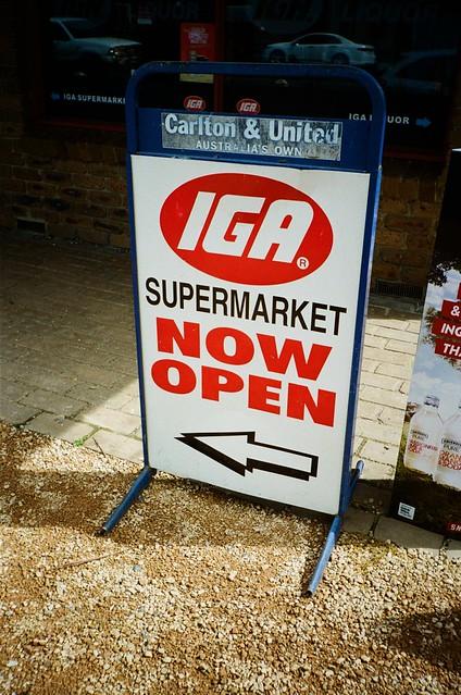 Sign - IGA Supermarket Now Open