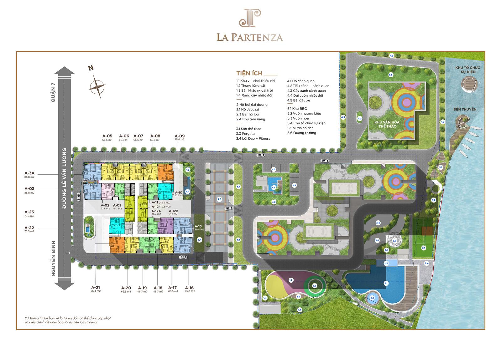 Mặt bằng layout căn hộ La Partenza