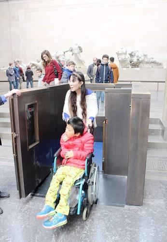 大英博物館內的升降平台