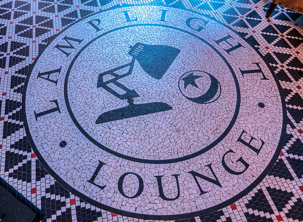 Lamplight Lounge floor logo DCA