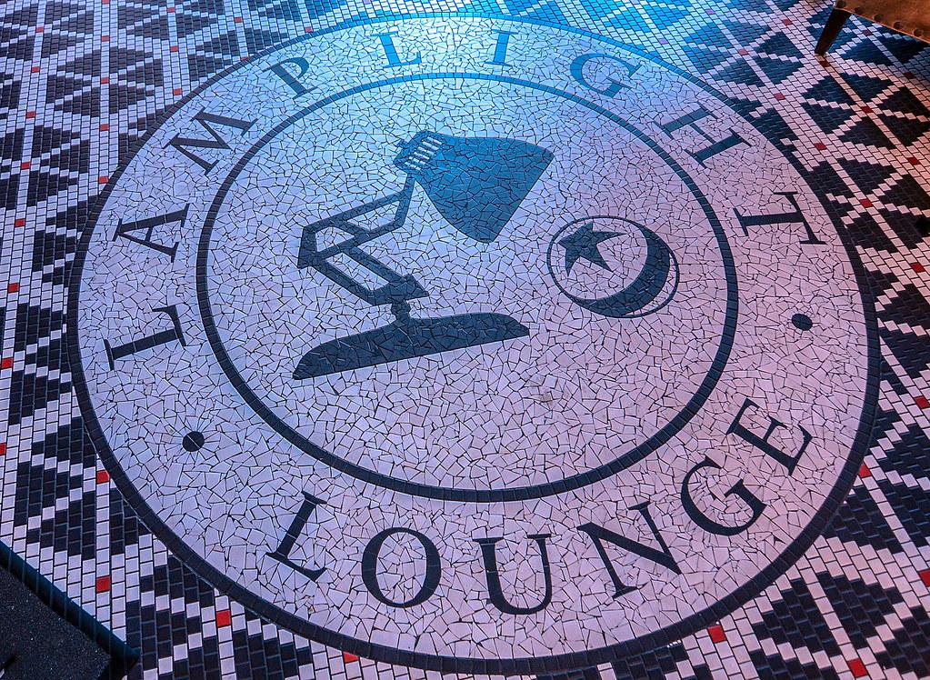 Lamplight Lounge floor logo DCA