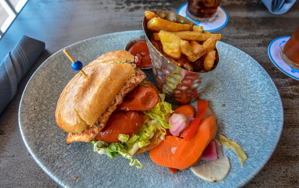 Lamplight Lounge salmon sandwich DCA