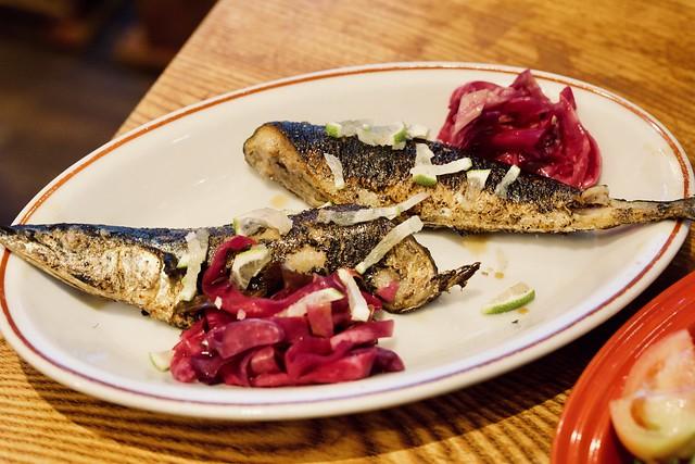 grilled mackerel saury pike