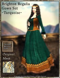 Brighton Regalia Gown Set-Turquoise-Promotional Art