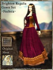 Brighton Regalia Gown Set-Fuchsia-Promotional Art