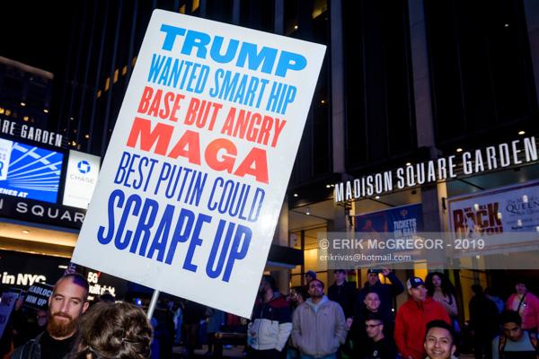 Trump protest at Madison Square Garden