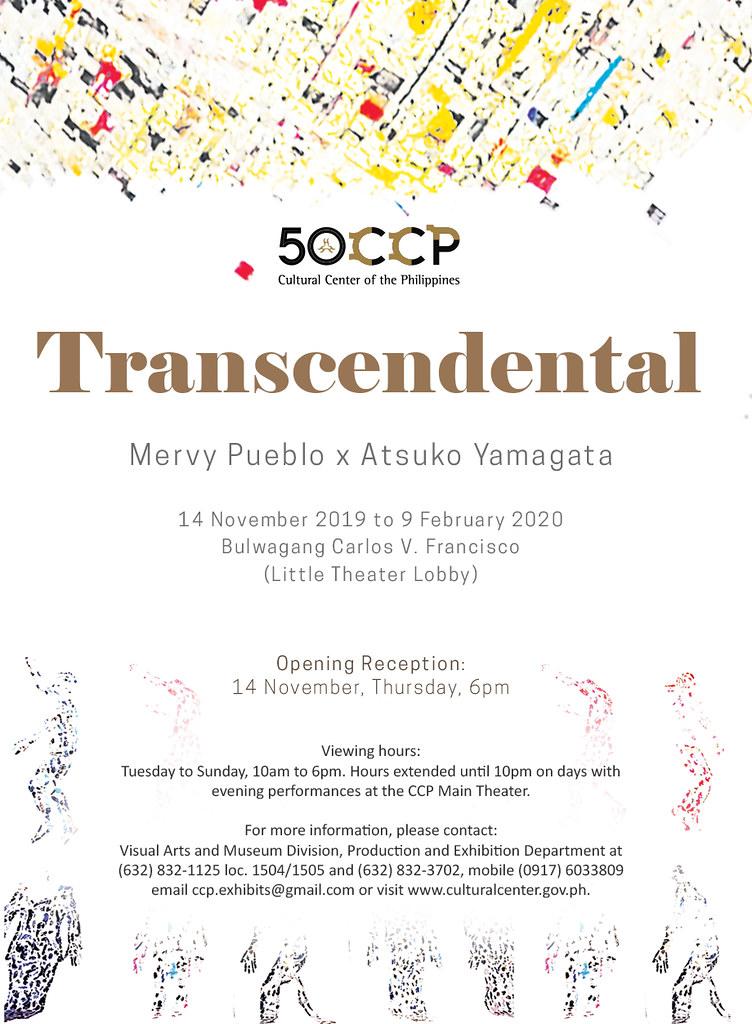 """TRANSCENDENTAL"" BY MERVY PUEBLO AND ATSUKO YAMAGATA AT THE CCP"