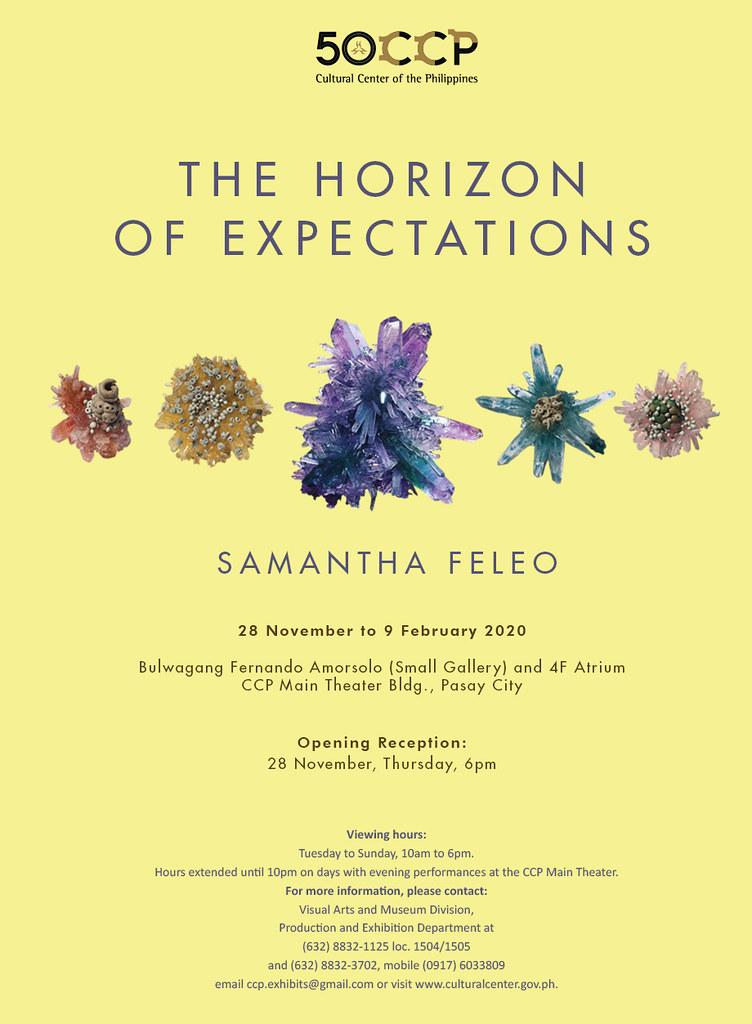 """THE HORIZON OF EXPECTATIONS"" BY SAMANTHA FELEO OPENS NOVEMBER 28 AT THE CCP"
