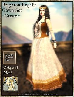 Brighton Regalia Gown Set-Cream-Promotional Art