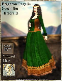 Brighton Regalia Gown Set-Emerald-Promotional Art