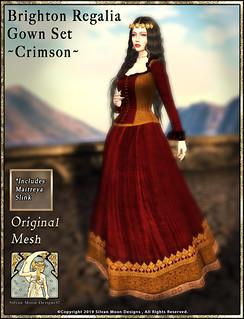 Brighton Regalia Gown Set-Crimson-Promotional Art