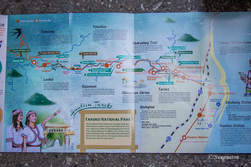 Tarokon kansallispuisto, reitit
