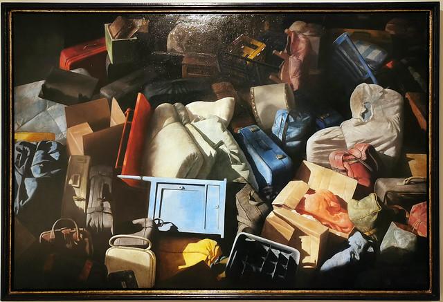 Equipaje en el espacio 1998 2001 oleo pintura realista de Cristobal Toral Museo de la Ciudad de Antequera Malaga