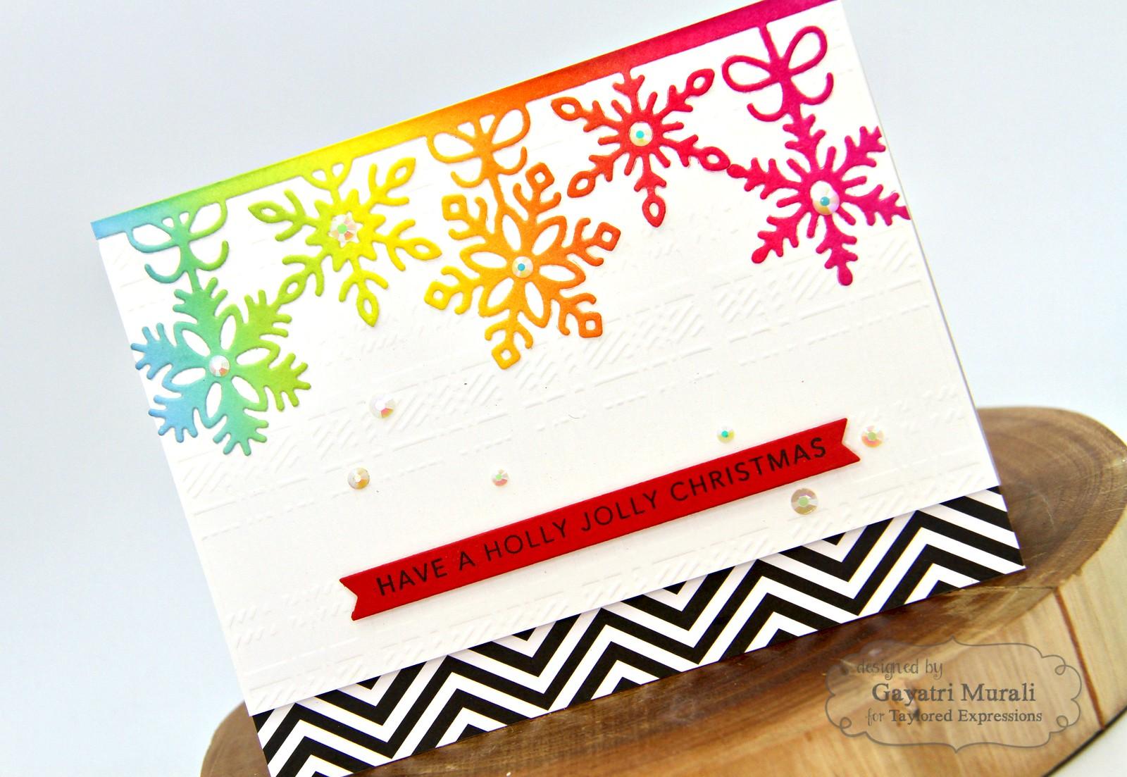 TE Rainbow Christmas card #5 closeup