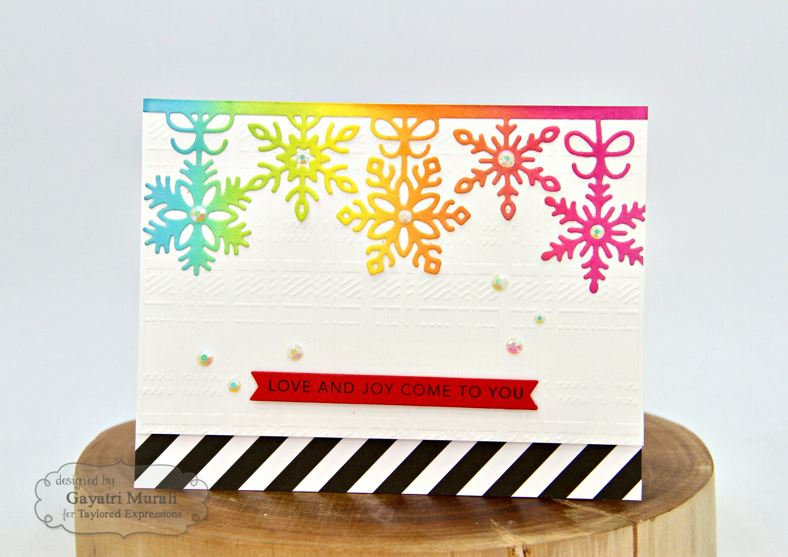 TE Rainbow Christmas card #4