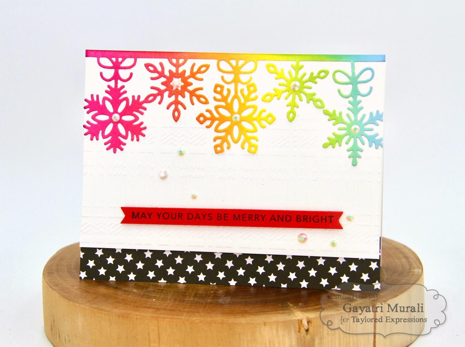 TE Rainbow Christmas card #2
