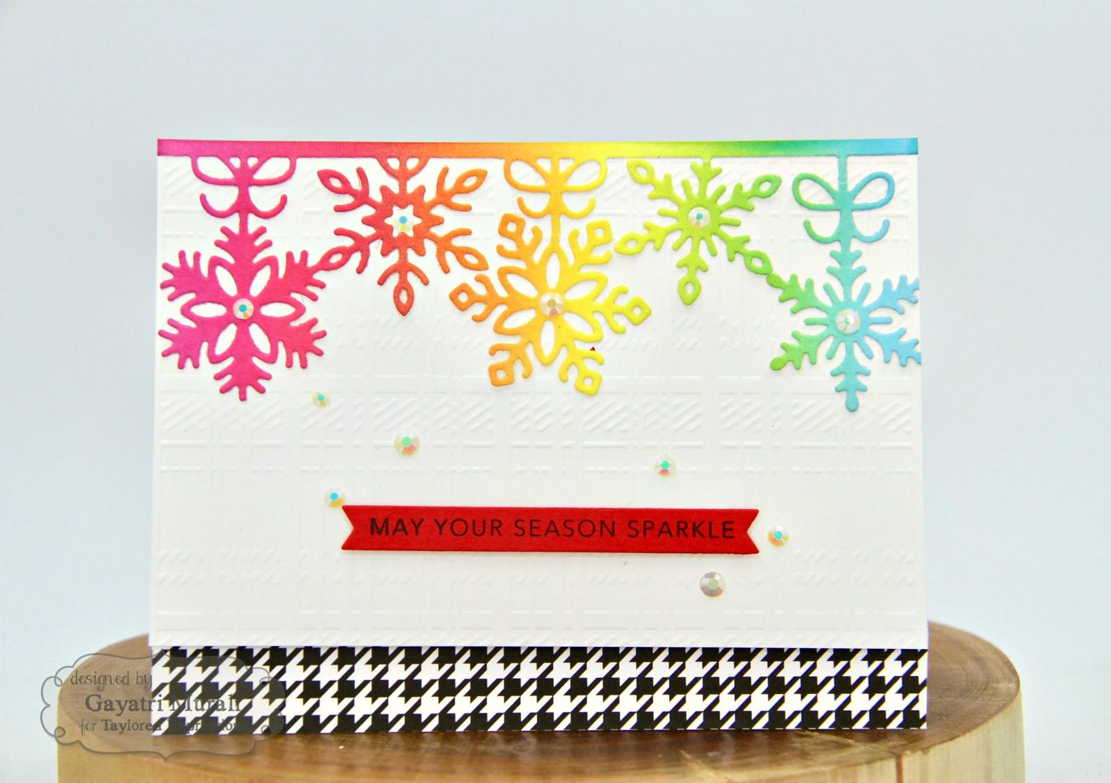 TE Rainbow Christmas card #1